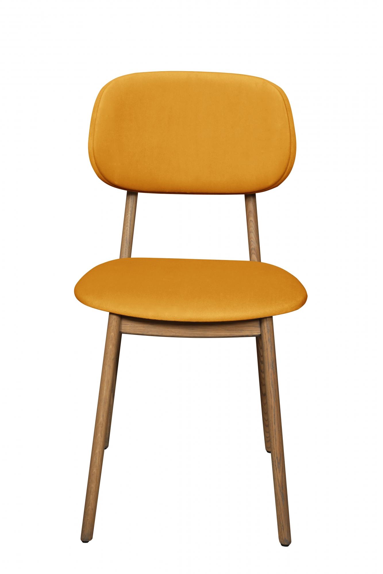 Hugo Saffron Velvet Dining Chair