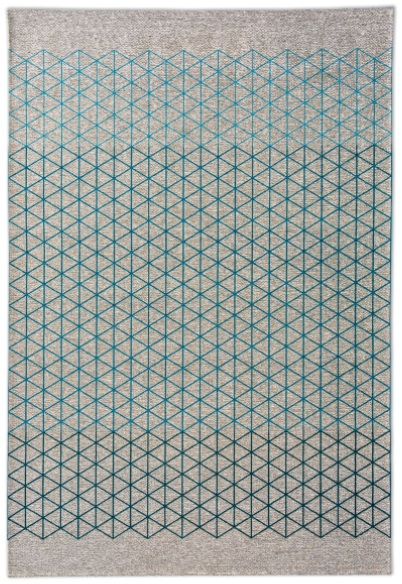 Calligaris Apotema Rug Sand/Various Shades of Light Blue