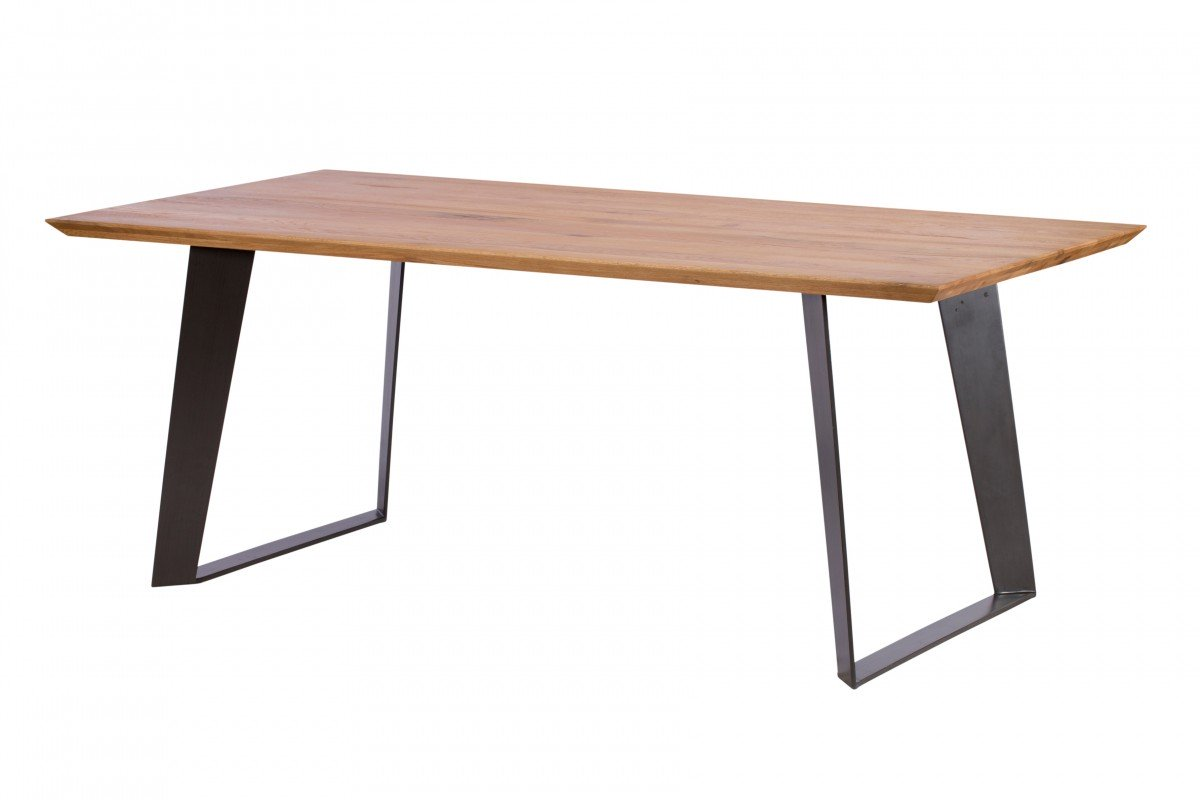Hatton 220cm Dining Table and 4 Brown Dining Chairs - Bundle Deal