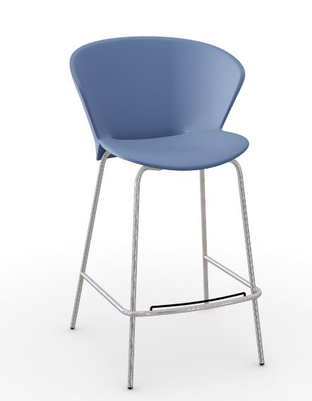 Calligaris Bahia Fixed Blue Stool