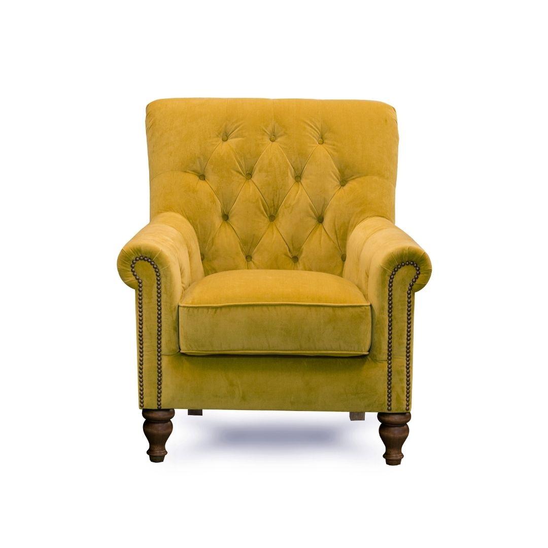 Kennedy Nester Accent Chair - Mustard