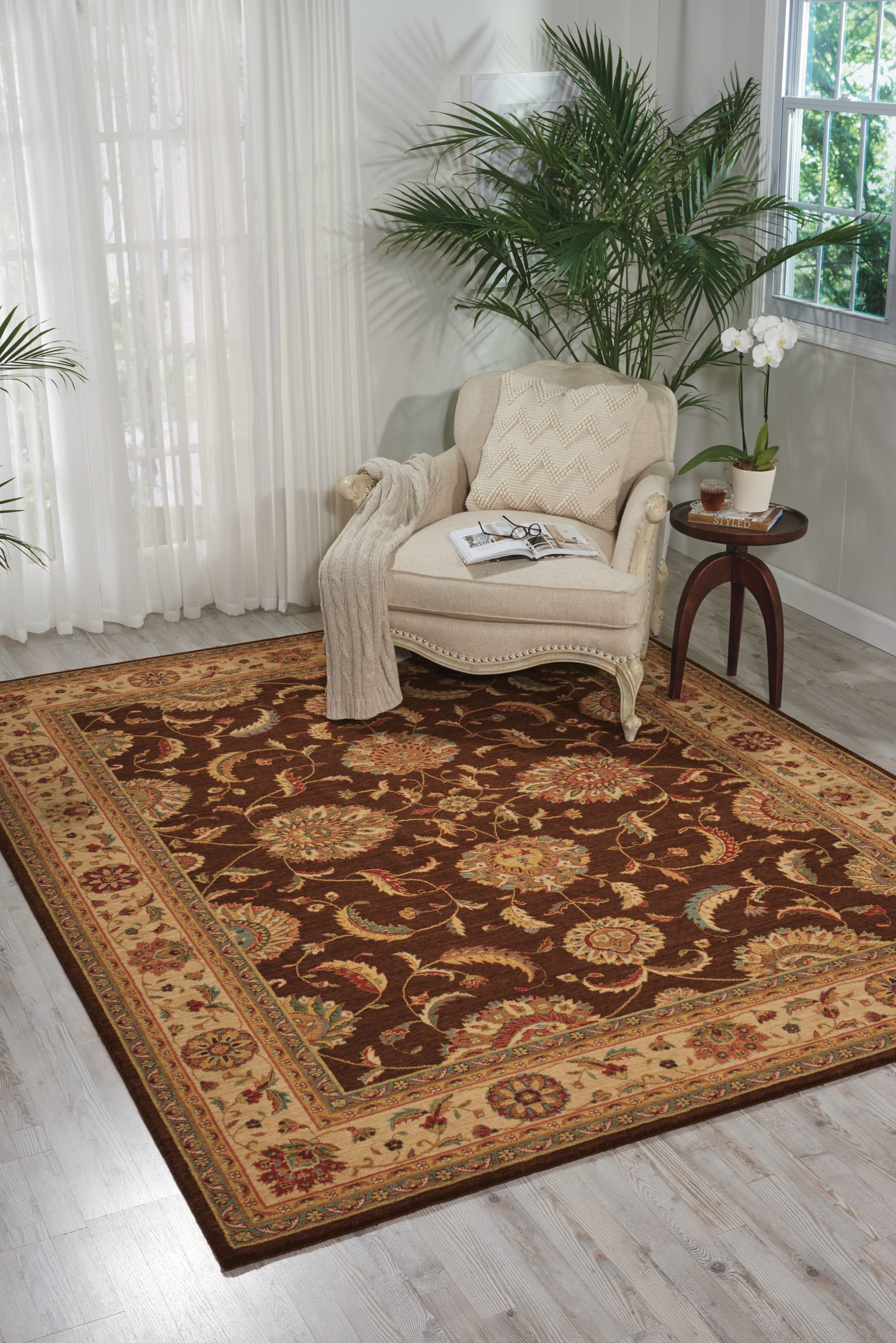 Living Treasures Rug LI04 Brown