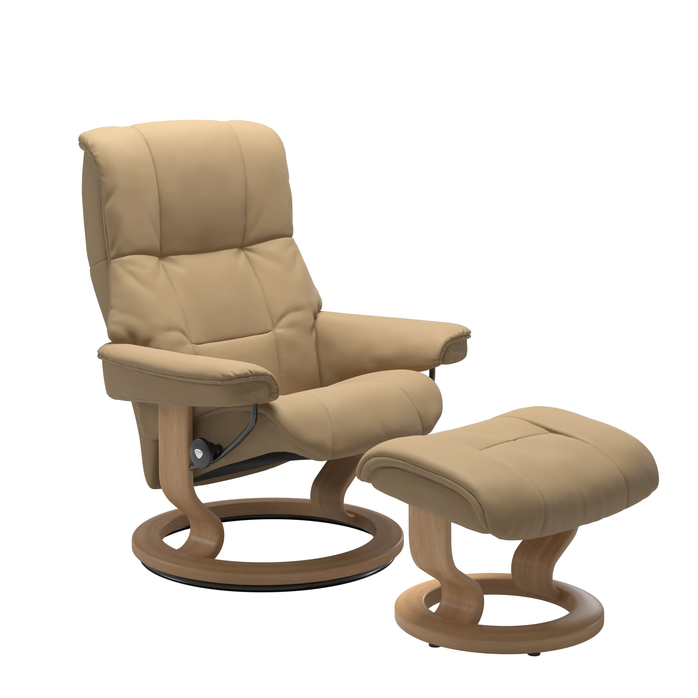 Stressless Mayfair Classic Sand Recliner & Stool