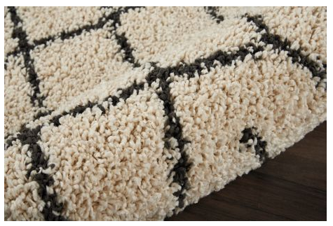 Moroccan Shag Rug MRS01 Cream