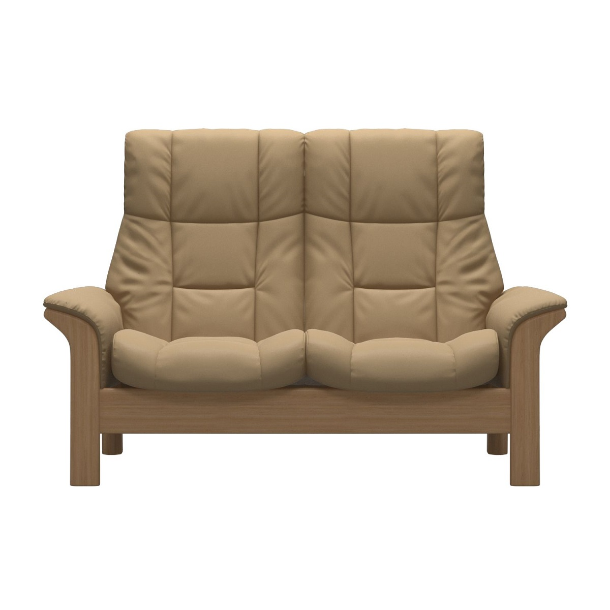 Stressless Windsor 2 Seater High Back Sand Sofa