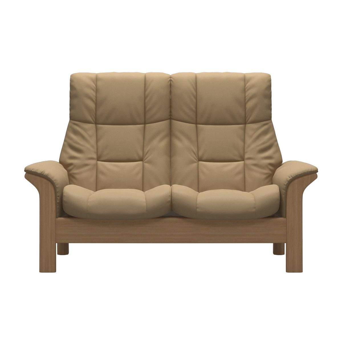 Stressless Windsor 2 Seater High Back Sand Sofa