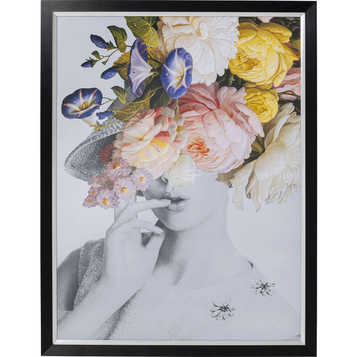 Flower Lady Picture Frame