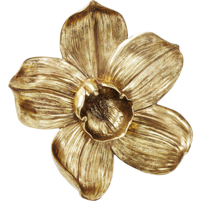 Gold Orchid Wall Decoration