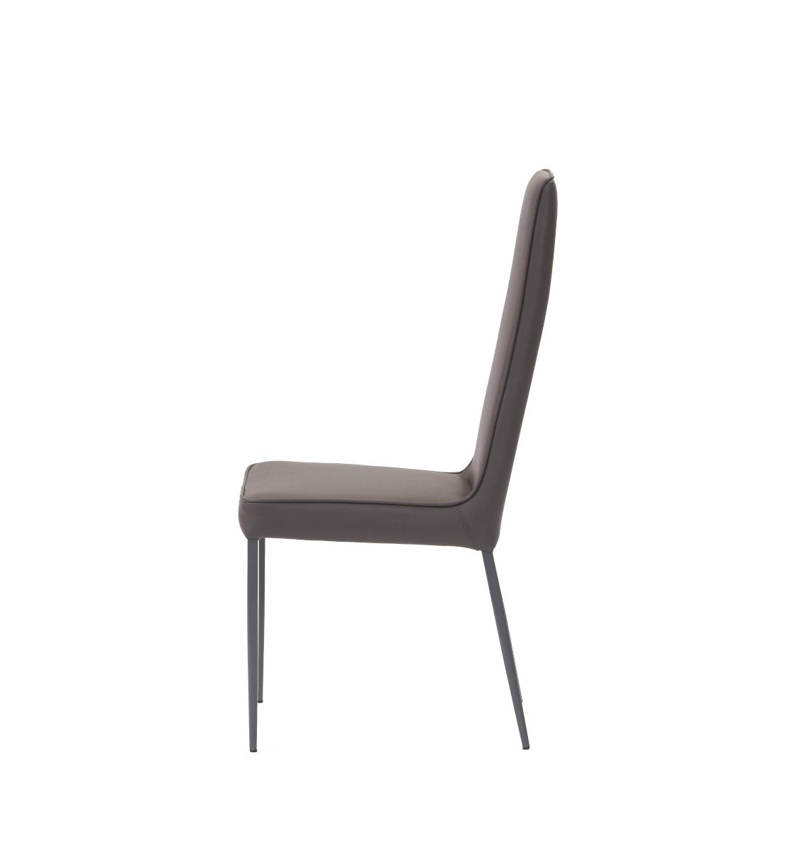 Mara Dining Chair Grey Ecopelle