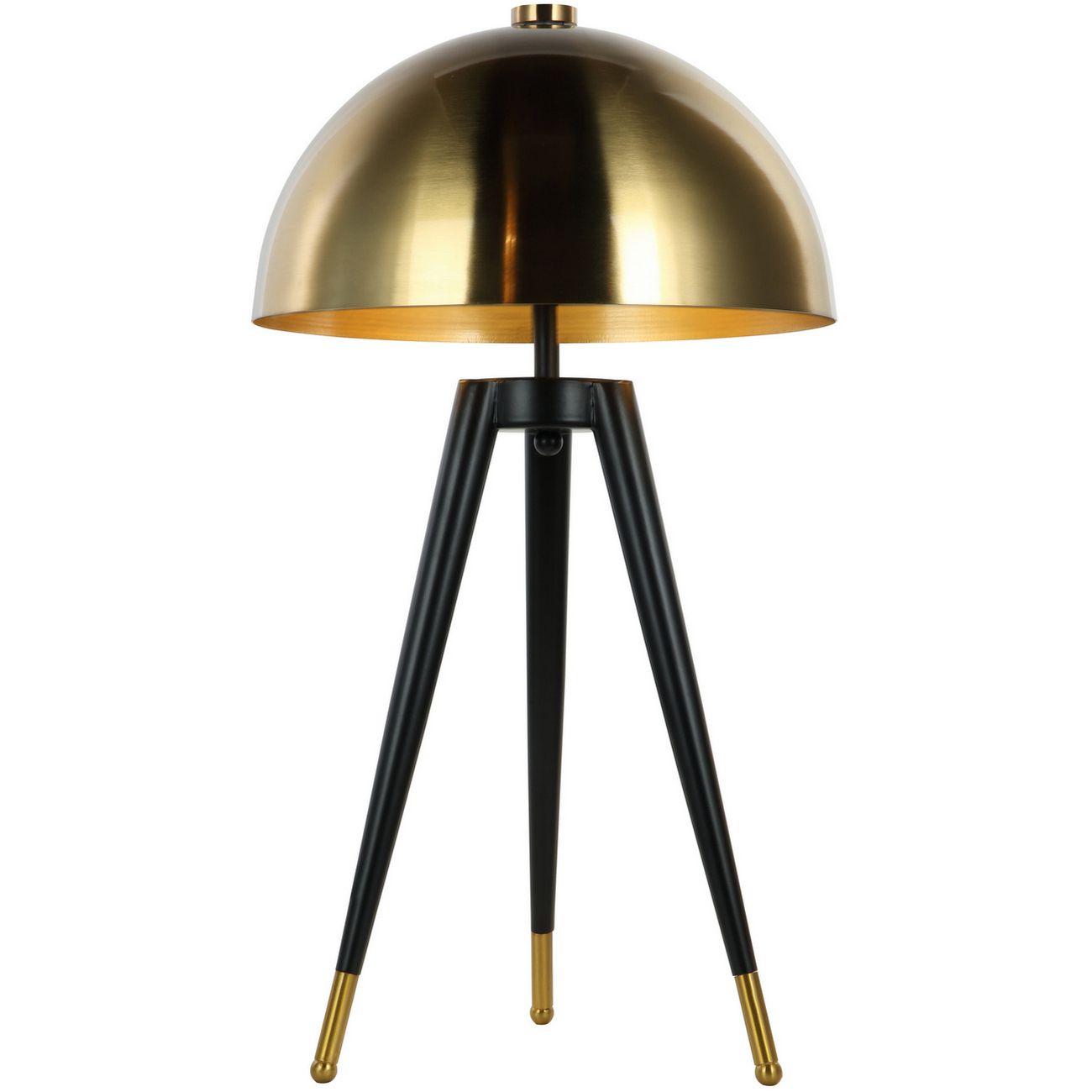 Brass Shaded Corvus Tripod Table Lamp