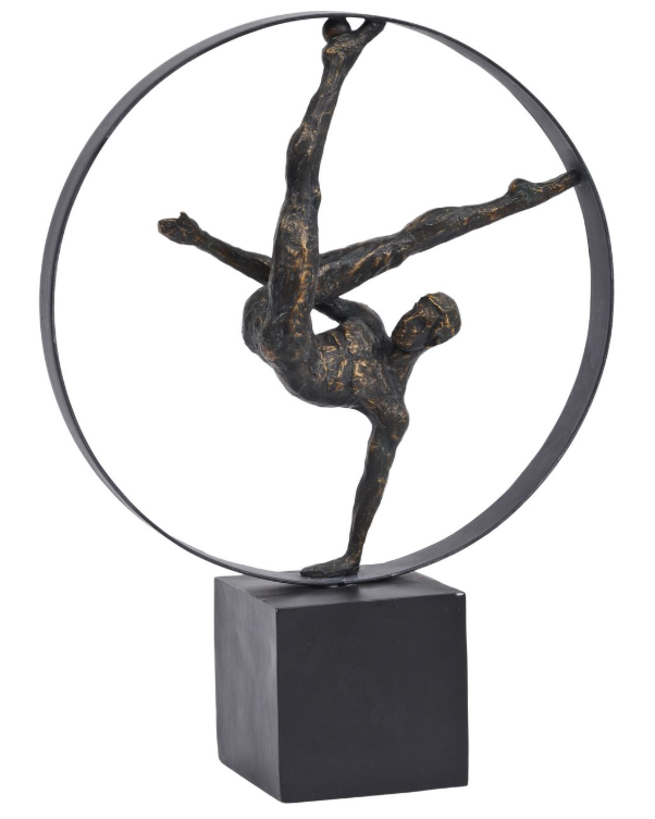 Male Gymnast Hoop Sculpture