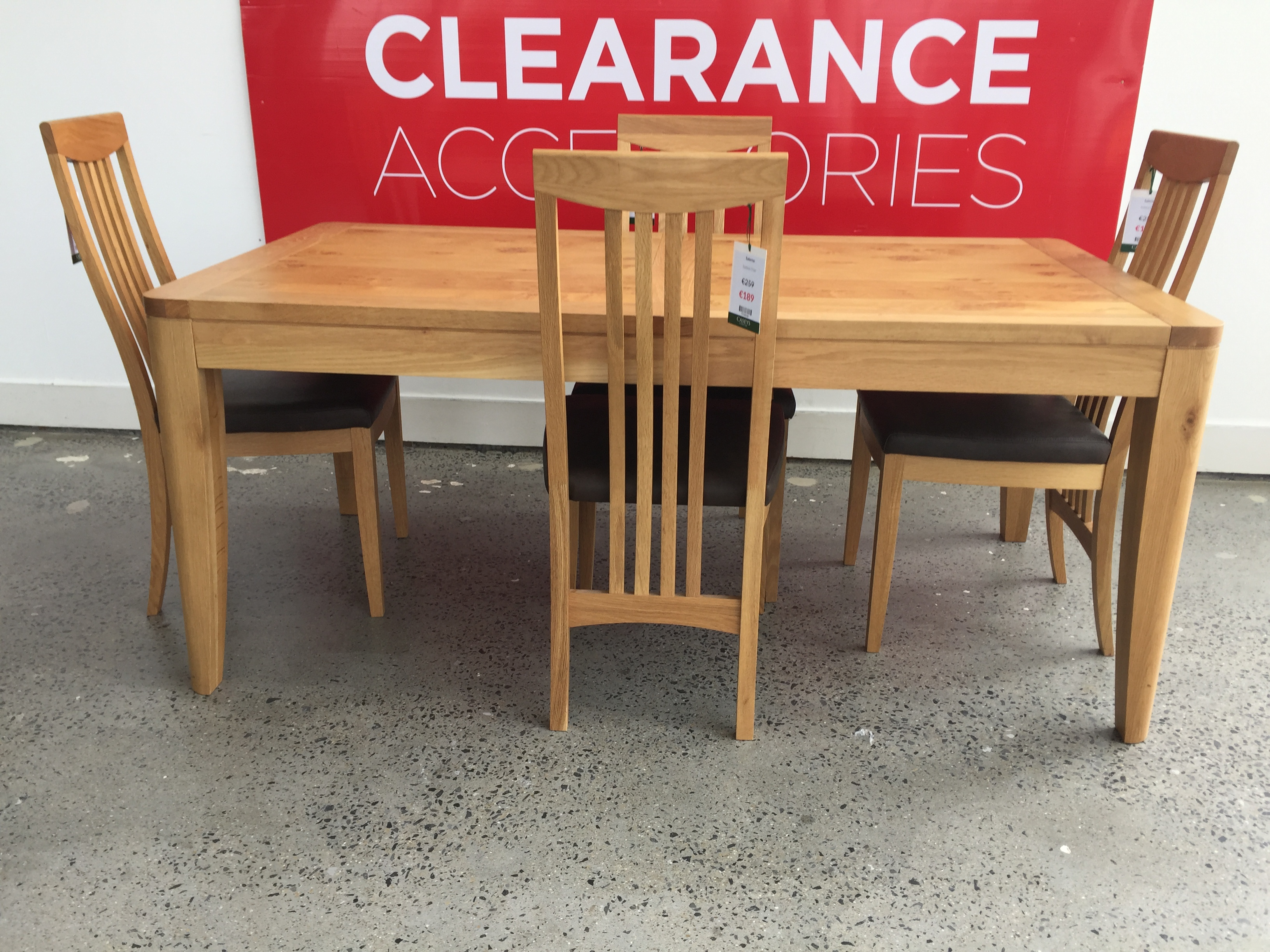 Salerno Dining Bundle (with 6 chairs)  - OUTLET