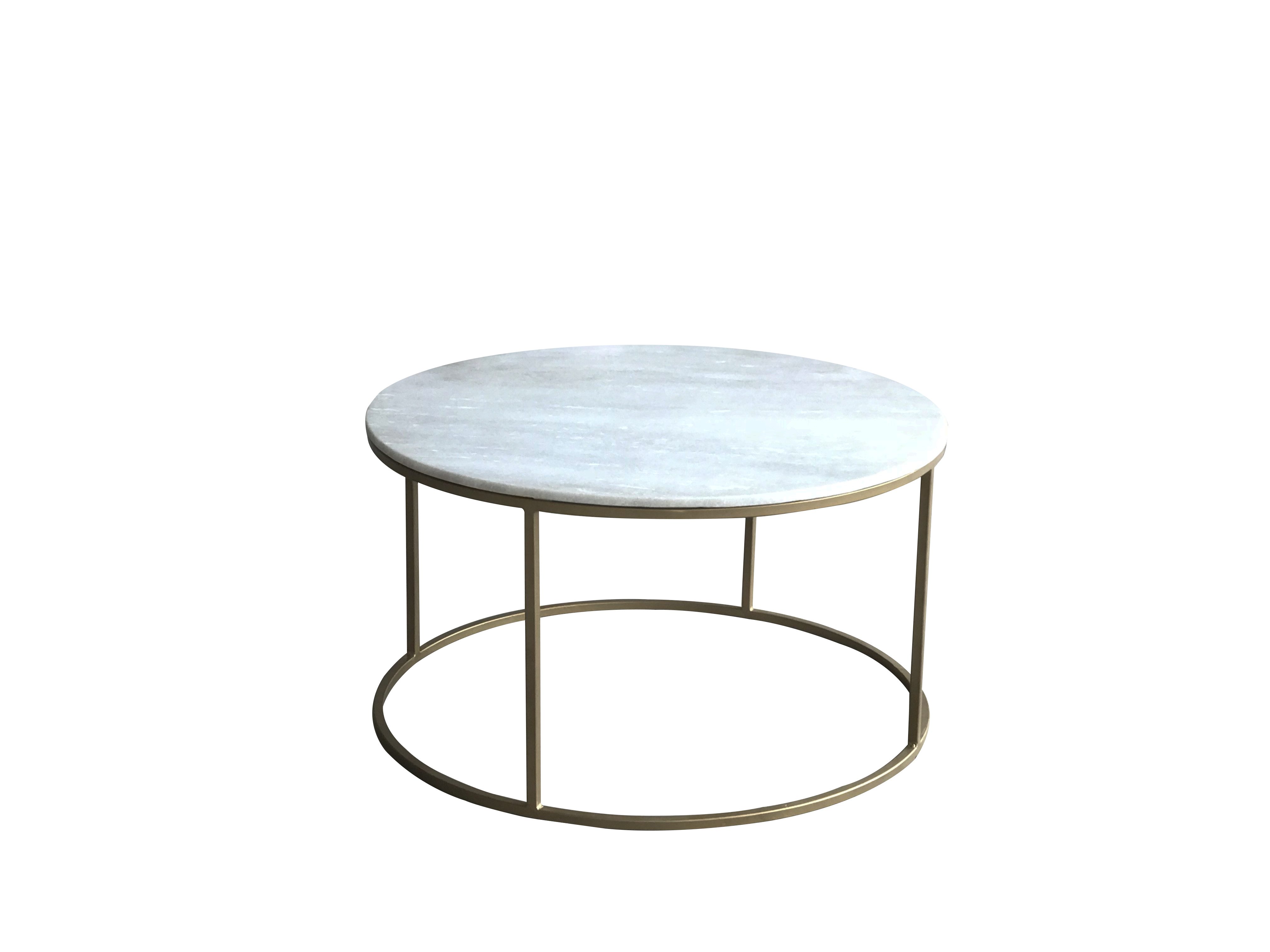 Beth Brass and Marble Circular Coffee Table