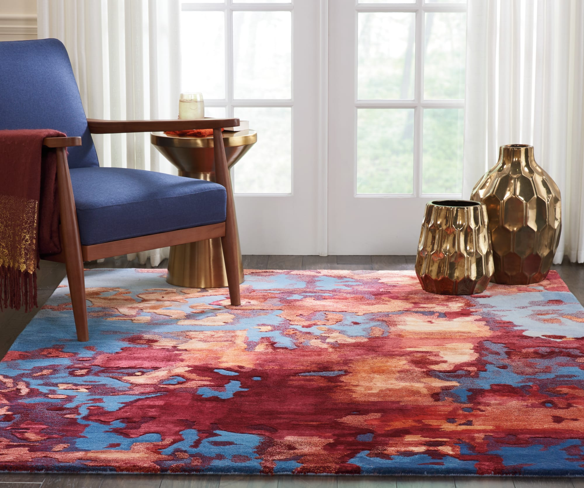 Prismatic Rug PRS13 Blue Flame