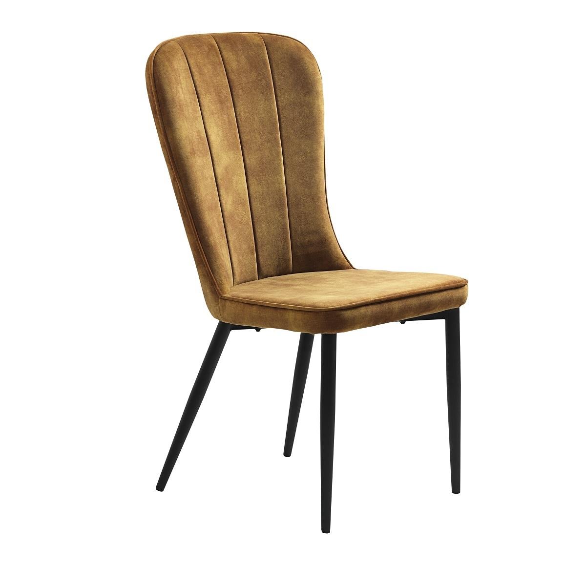 Effie Vintage Amber Velvet Dining Chair