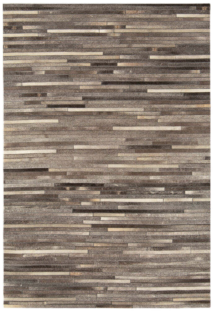 Gaucho Rug Dark Grey Stripe