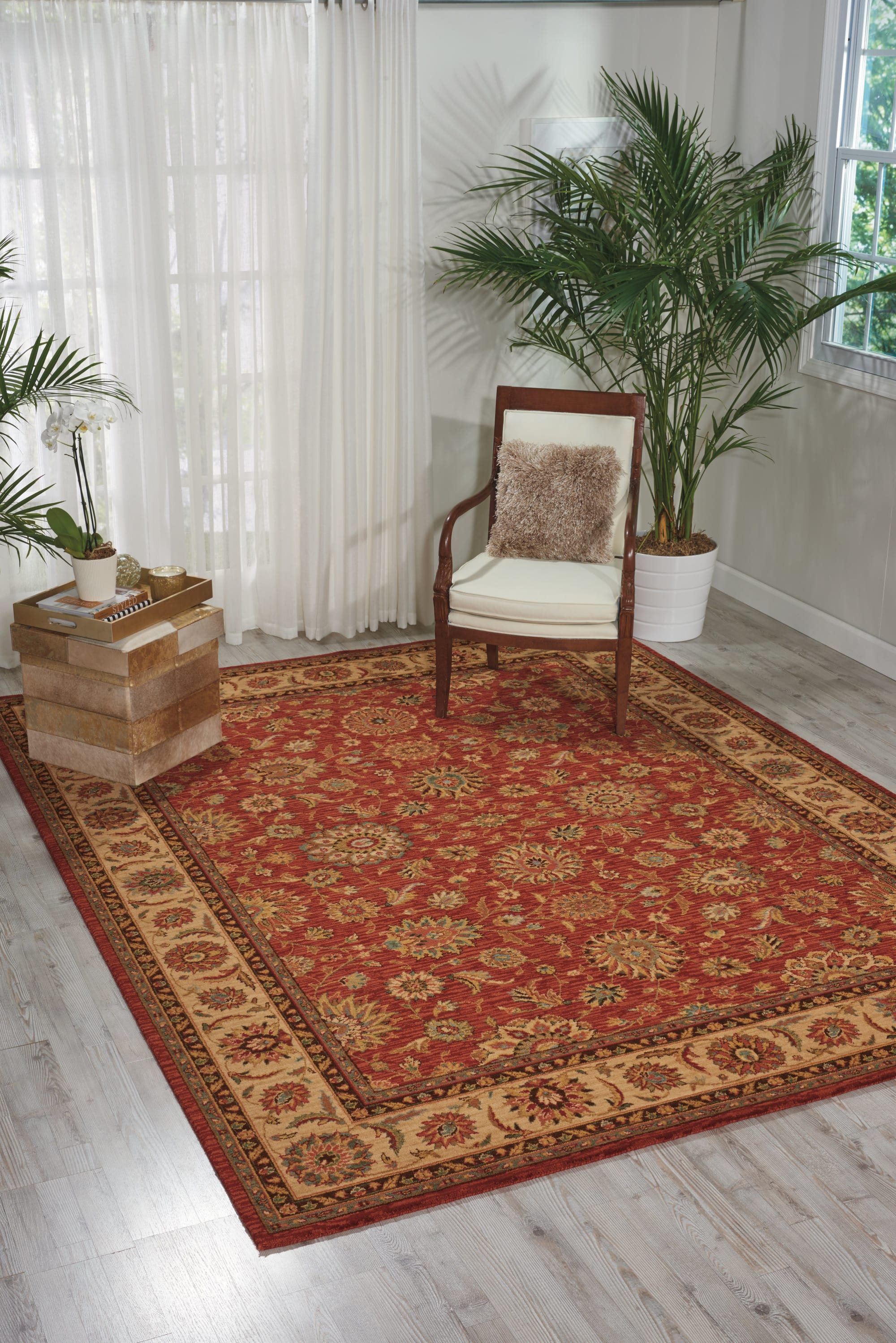 Living Treasures Rug LI05 Rust