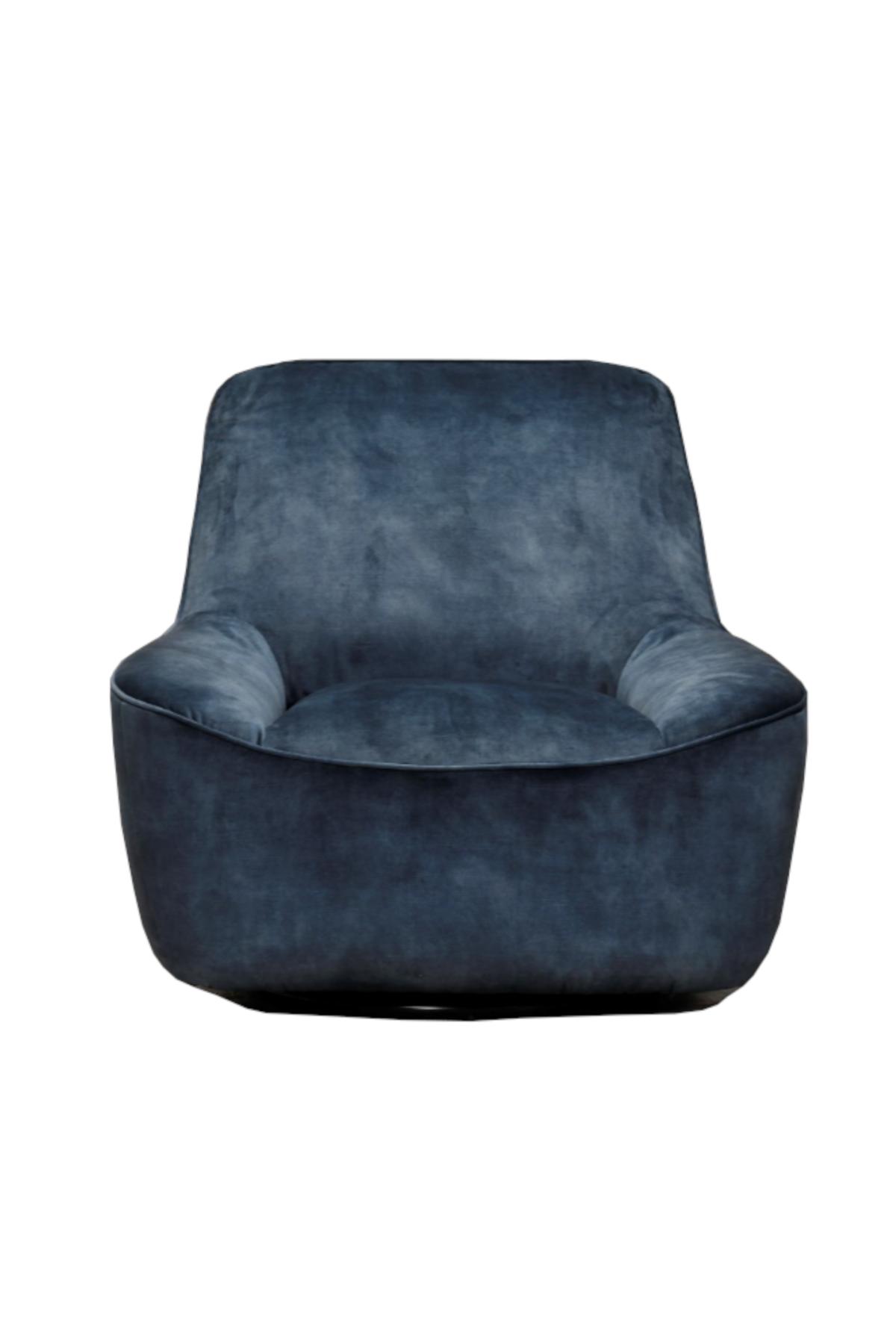 Azura Swivel Chair - Blue