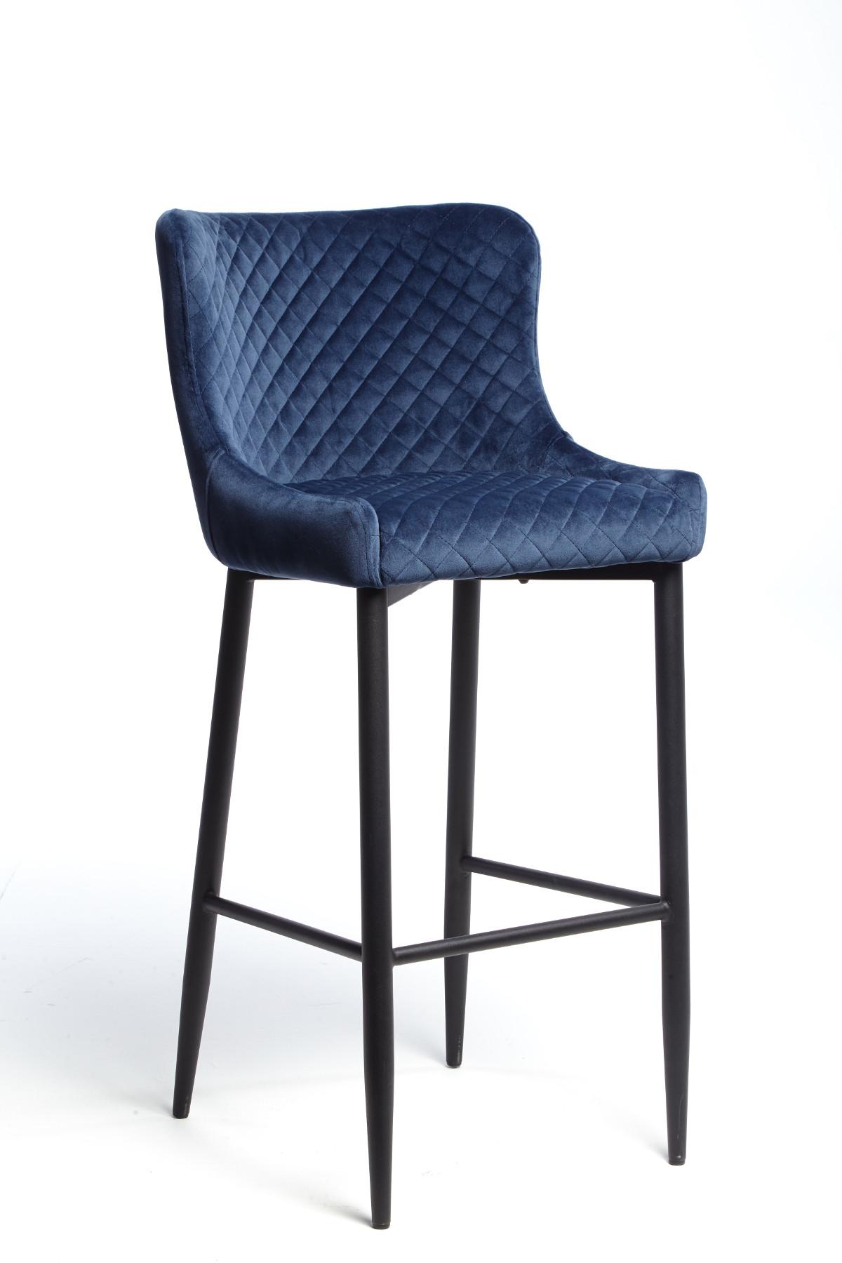 Maxwell Counter Stool (Dark Blue Velvet)