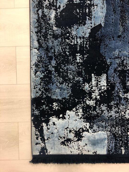 Toros Overdyed Rug Abstract Ink