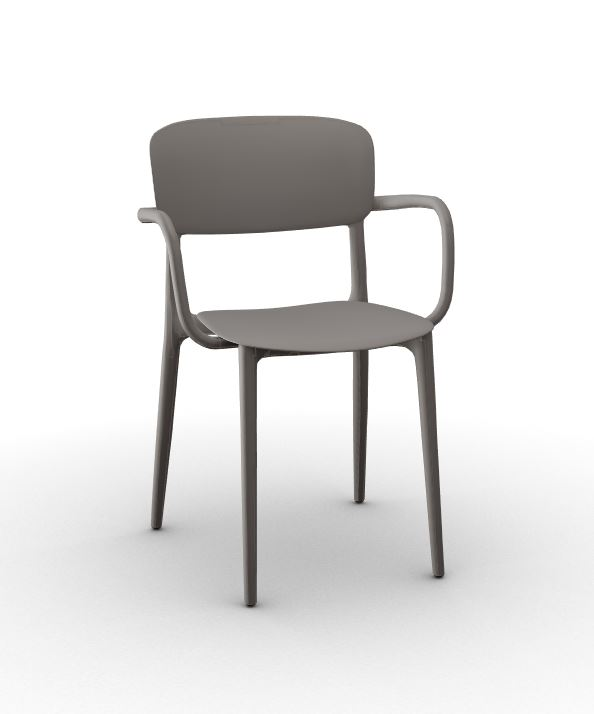 Calligaris Liberty Arm Chair - Matt Taupe