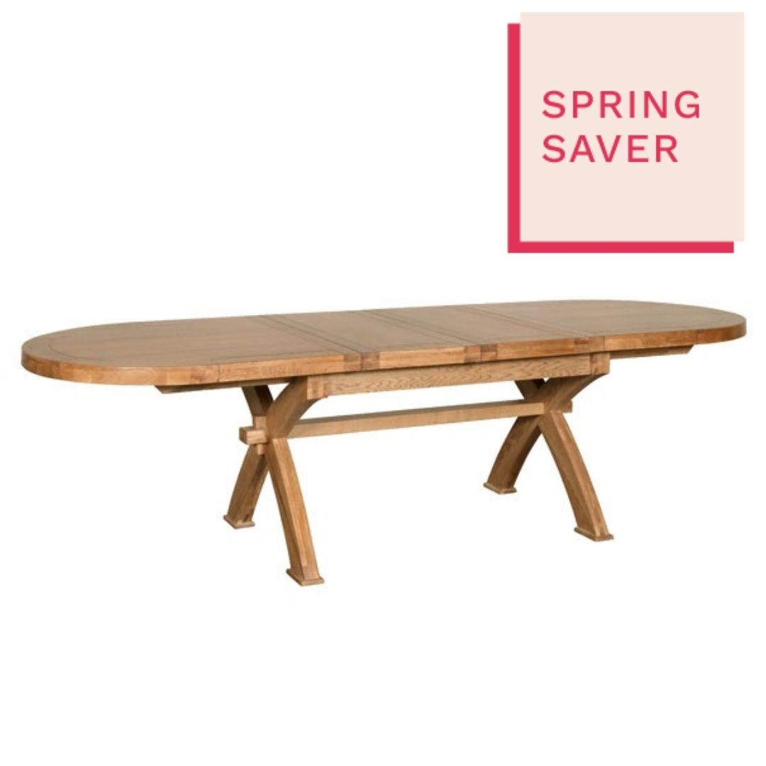 Kettering Oval X Leg Extending Dining Table