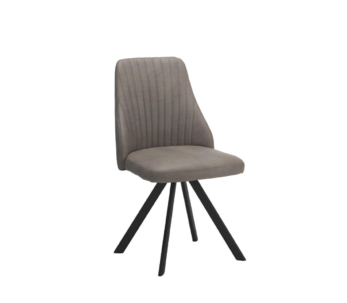 Lucas Light Grey Swivel Chair