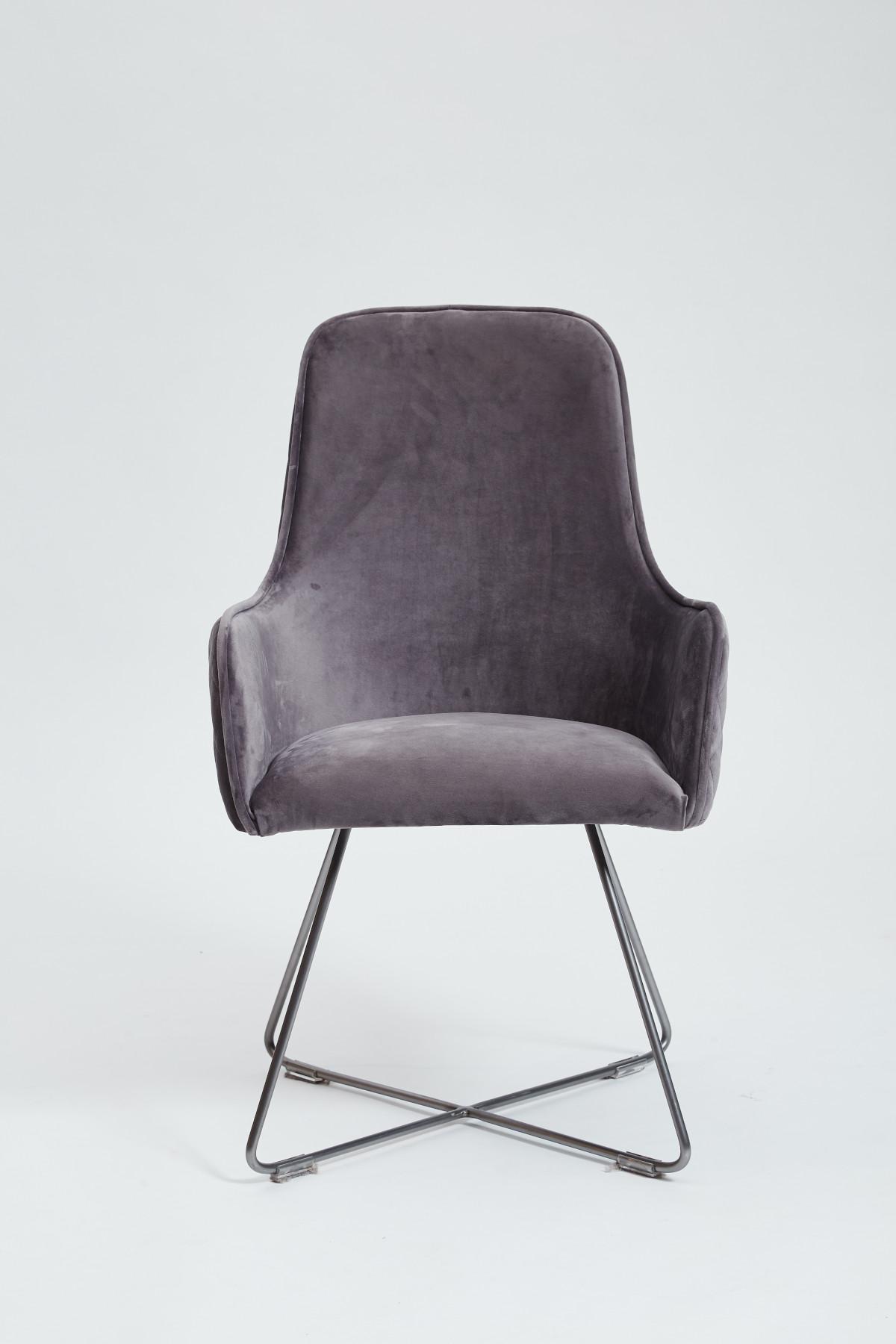 Utah Dining Chair - Plush Steel