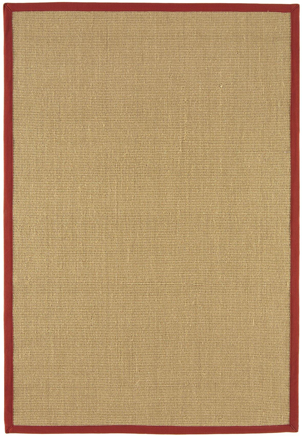 Sisal Rug Red Linen