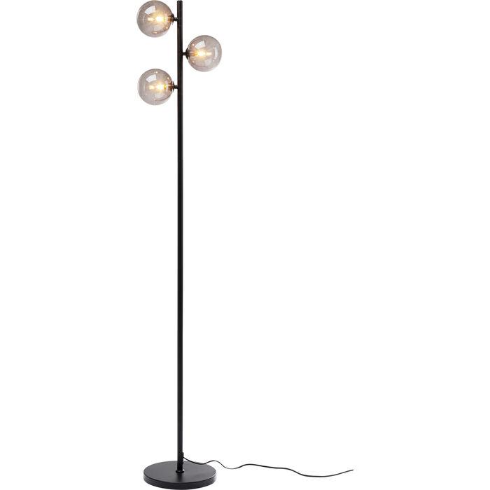 Three Balls Matt Black Floor Lamp