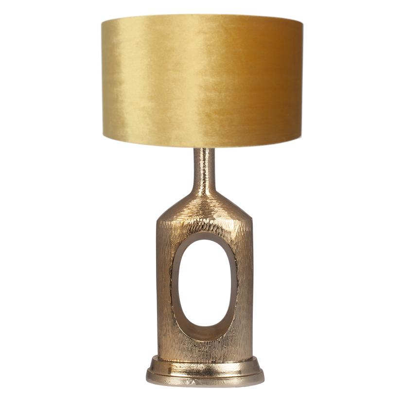 Medium Hammered Brass Bottle Table Lamp