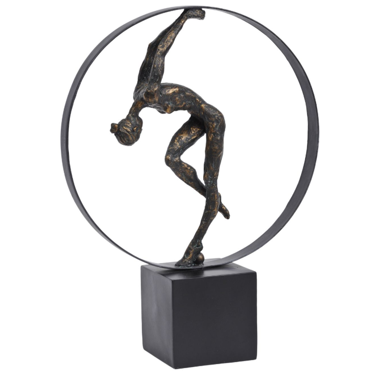 Female Gymnast Hoop Sculpture