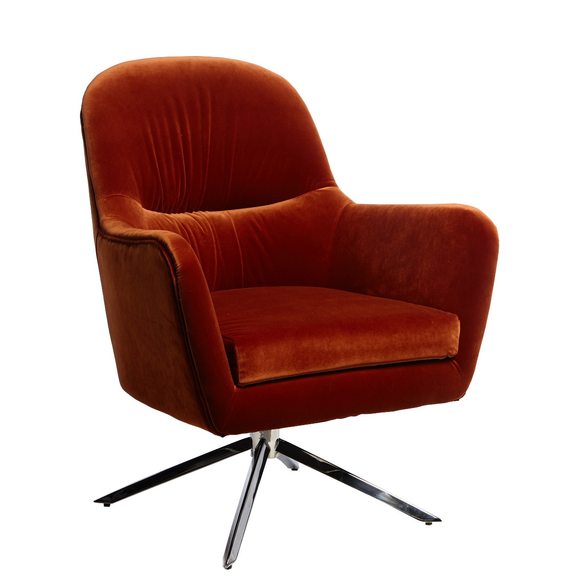 Heather Chair Orange Chrome