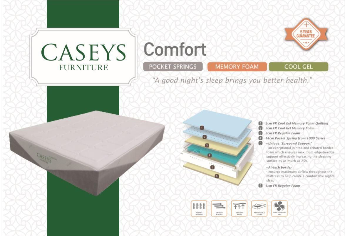 Caseys Comfort 4.6ft Mattress