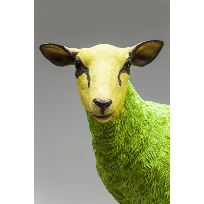 Green Sheep Figurine