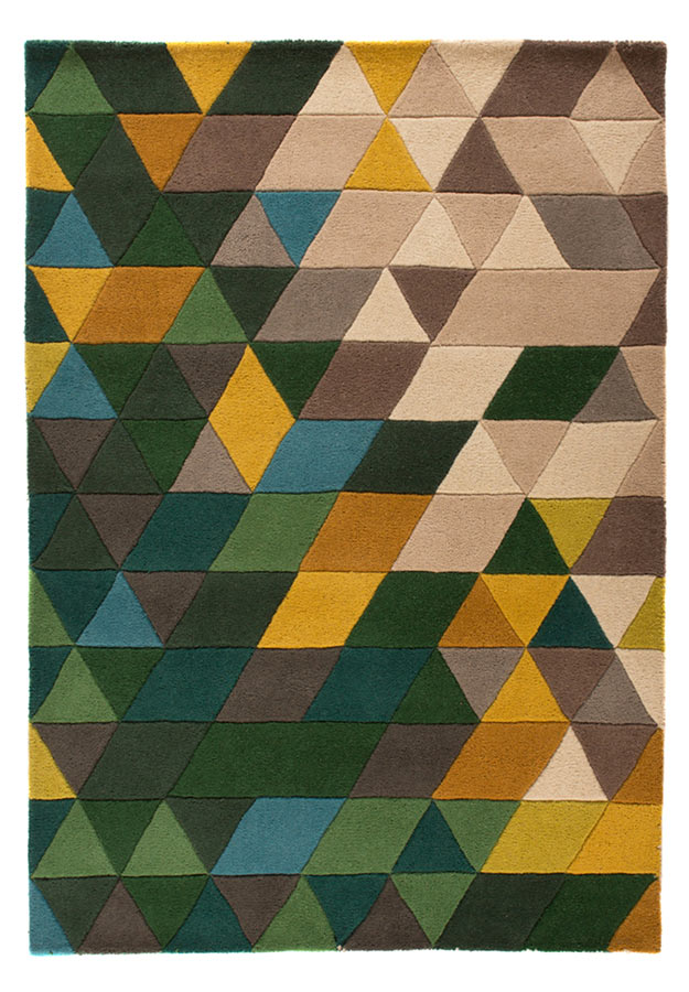 Illusion Prism Rug Green/Multi