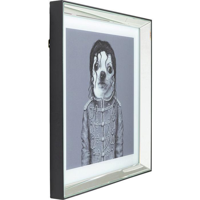 MJ Moonwalk Dog Picture Frame Mirror