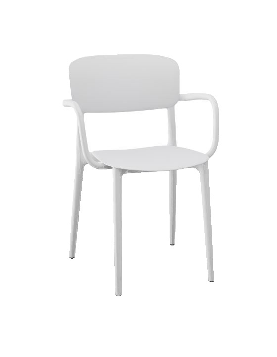 Calligaris Liberty Arm Chair - Matt Optic White