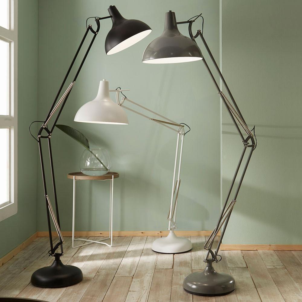 Grey Metal Floor Lamp