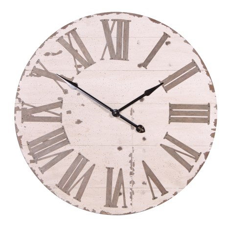 Large Vintage Wall Clock (Cream)