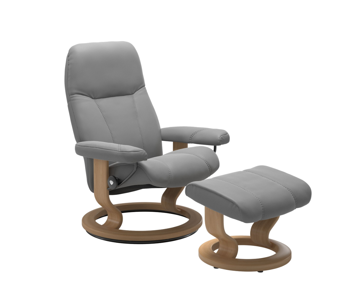 Stressless Consul Wild Dove Medium Recliner Chair