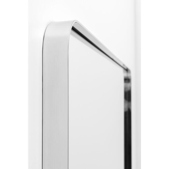 Chrome Look Rectangular Curvy Mirror