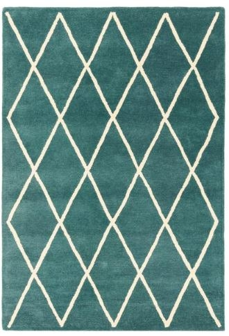 Albany Diamond Rug - Teal