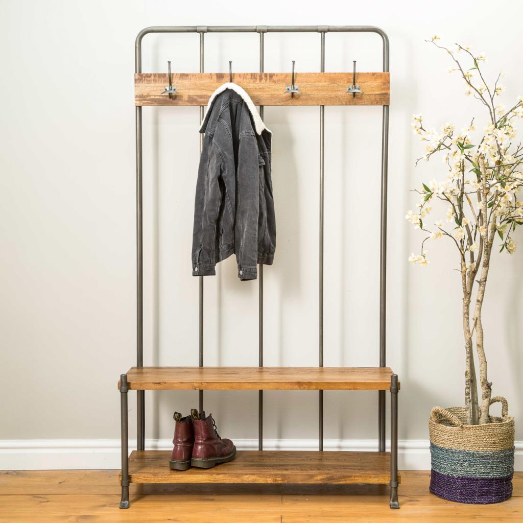 Reclaimed Standing Coat Rack