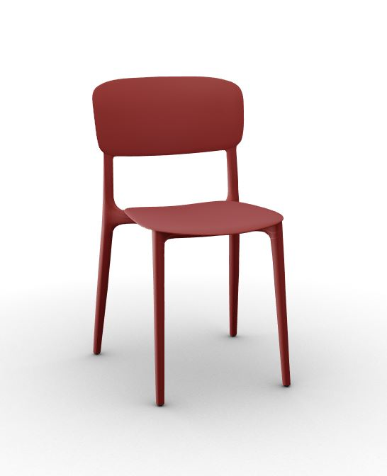 Calligaris Liberty Chair Brick Red