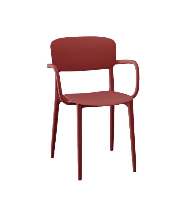 Calligaris Liberty Arm Chair - Matt Oxide Red