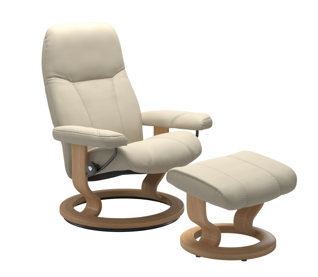 Stressless Consul Cream Large Recliner Chair