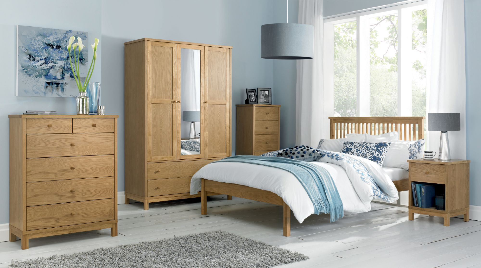 Conall Oak Lowend Bed Frame