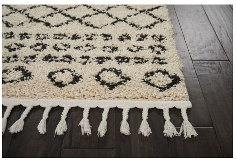 Moroccan Shag Rug MRS02 Cream