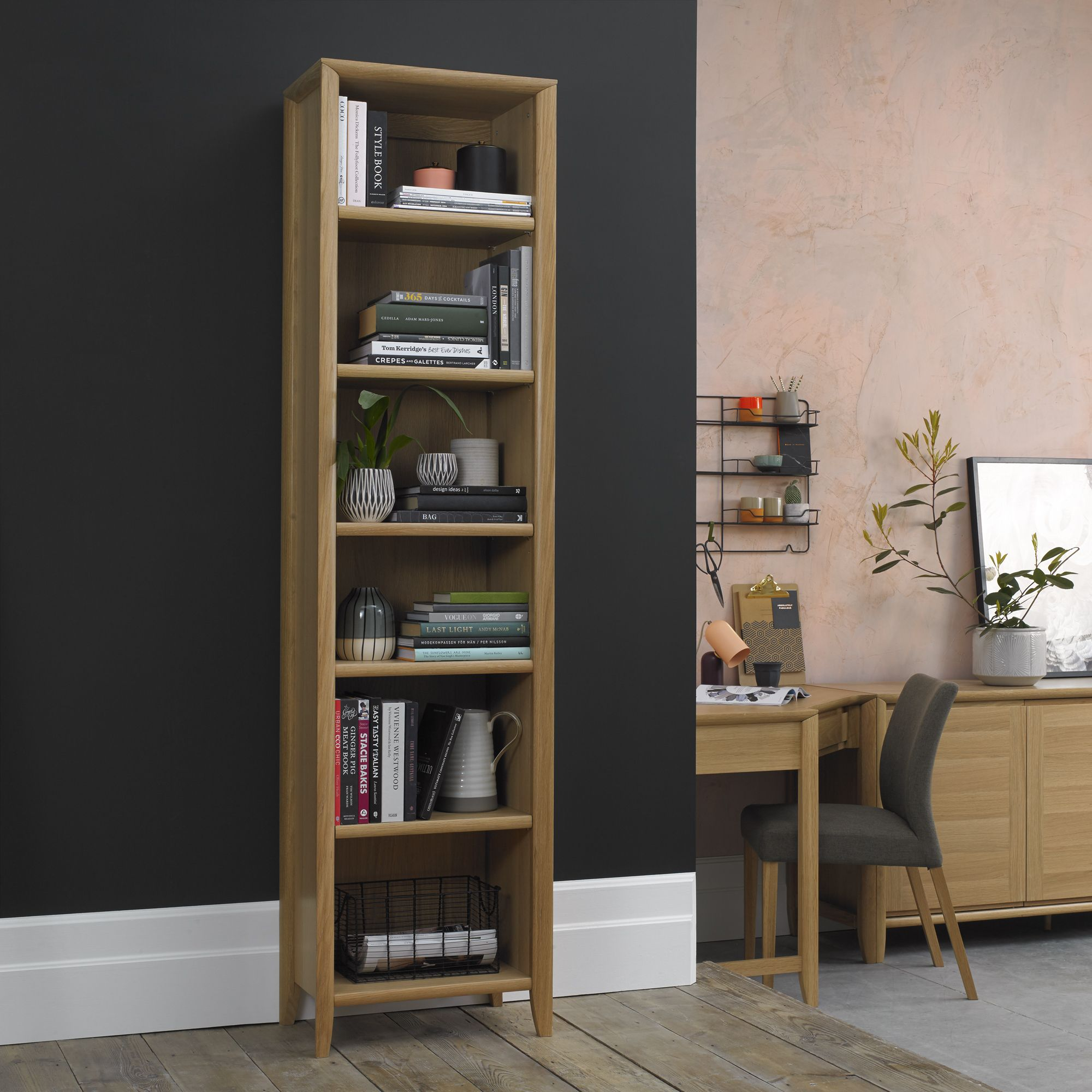 Oakley Narrow Bookcase